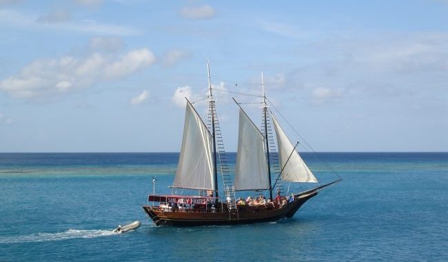 Aruba Ships like this take visitors to some of the best spots on the island.