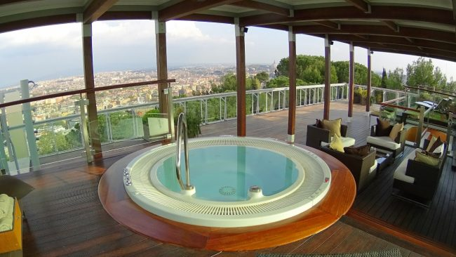 Rome Cavalieri roof deck