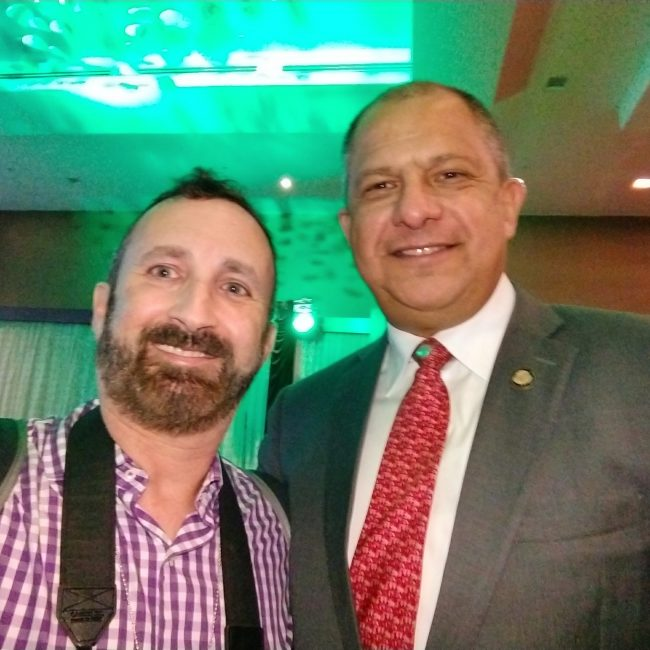 With the president of Costa Rica