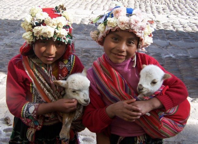 Local girls in Peru. Photo by Carol Bowman