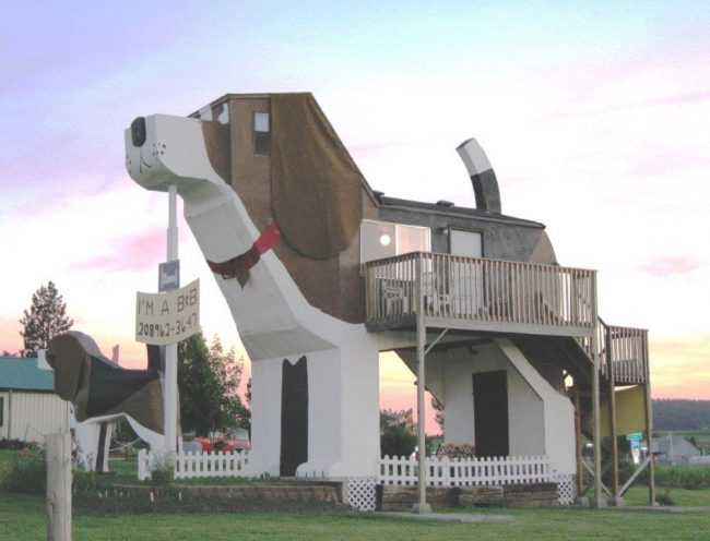 There are plenty of unusual places to stay around the world. Photo by Dog Park Bark Inn