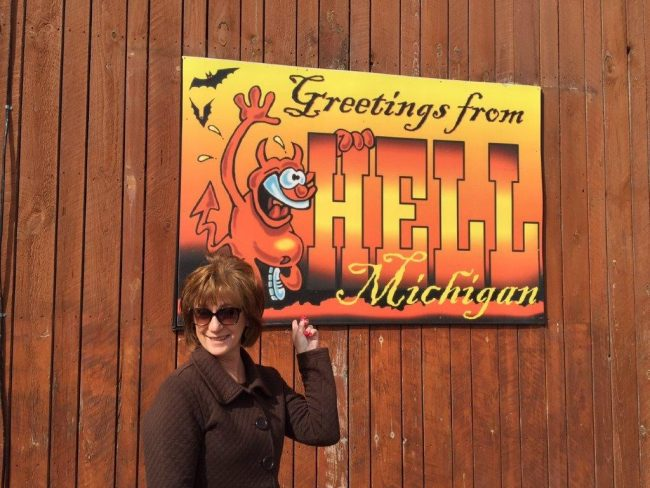 Greetings from Hell, Michigan. Photo by Victor Block towns with unusual names