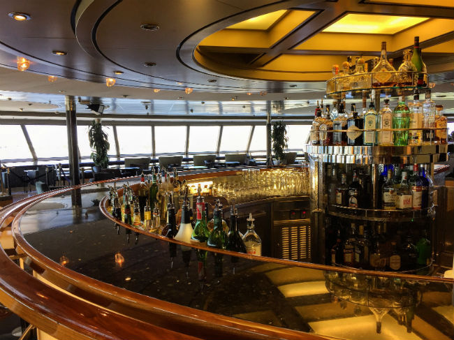 A selection of drinks on board. Photo by Rich Grant