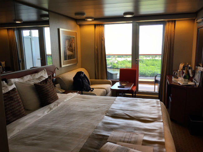 My room on my Holland America cruise. Photo by Rich Grant