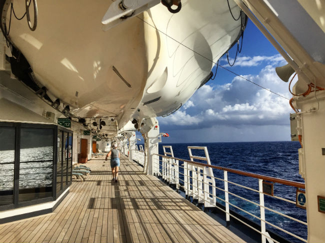 Cruise ship views aren't bad. Photo by Rich Grant