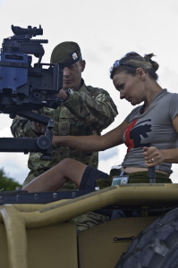Journalist Elayne Jude at work.