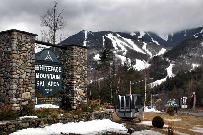 The entrance to Whiteface Mountain Ski Area near Lake Placid.