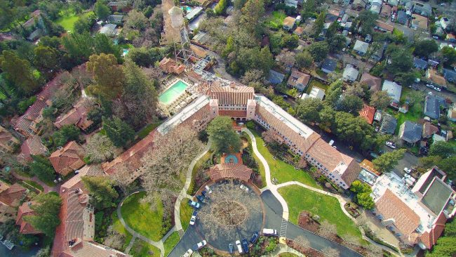 Drone view of Fairmont Sonoma