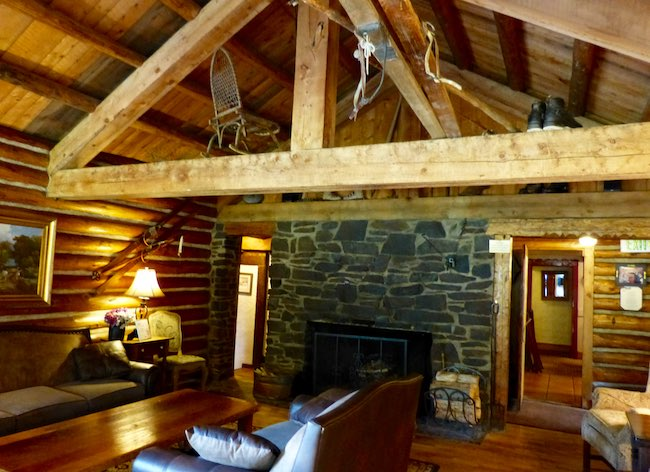 Living room of Ski Tip Lodge. Photo by Claudia Carbone