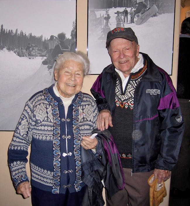 Edna and Max Dercum circa early 2000 at the ski museum in Breckenridge, CO. Photo by Claudia Carbone