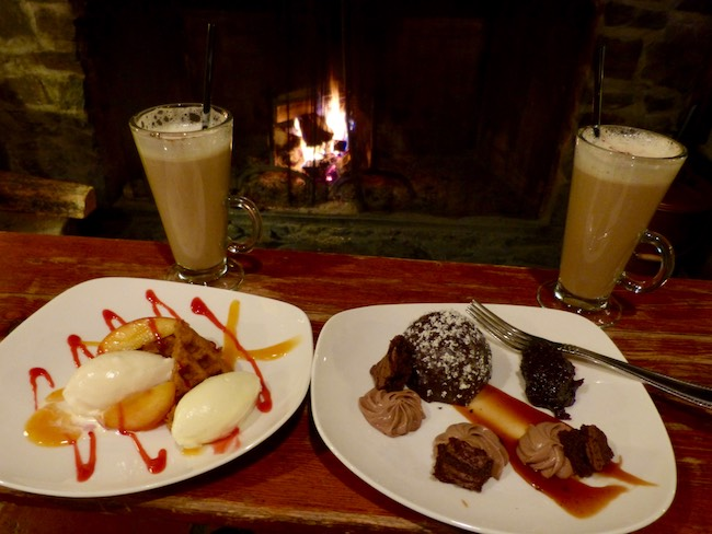 Dessert by firelight. Photo by Claudia Carbone