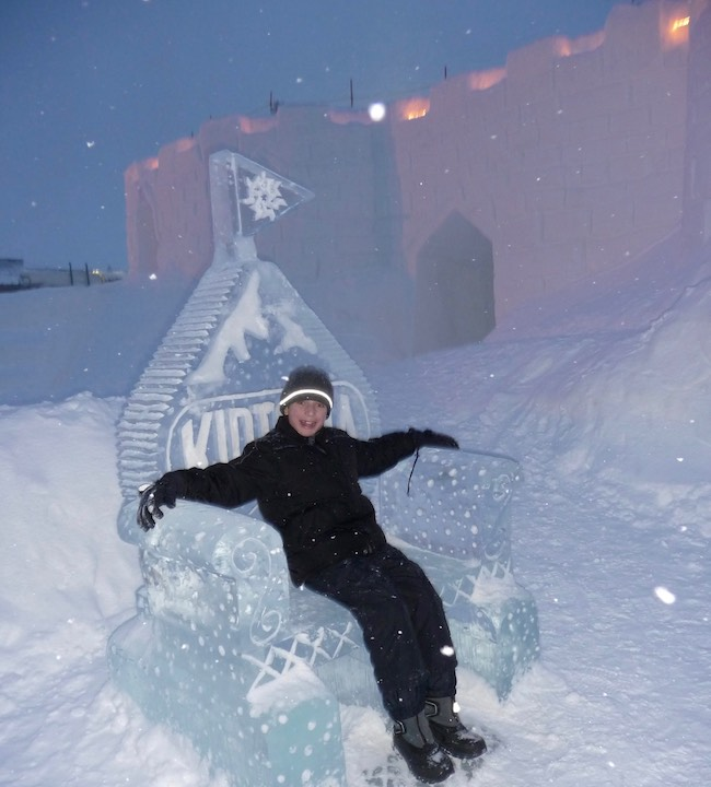 Kids rule at Keystone! My grandson Anthony at the snow fort in 2010. Photo by Claudia Carbone