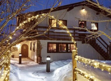 Ski Tip Lodge in winter. Photo by Mallory Van Zyl courtesy of Vail Resorts.