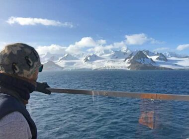 Travel can be a rewarding part of life. Dr. Zhu in Antarctica
