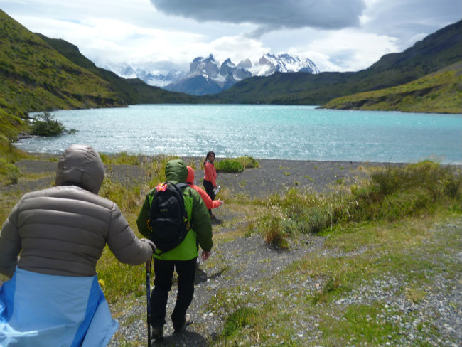 Hiking to Lago Nordenskjold in Torres Del Paine. Photo by Linda Ballou