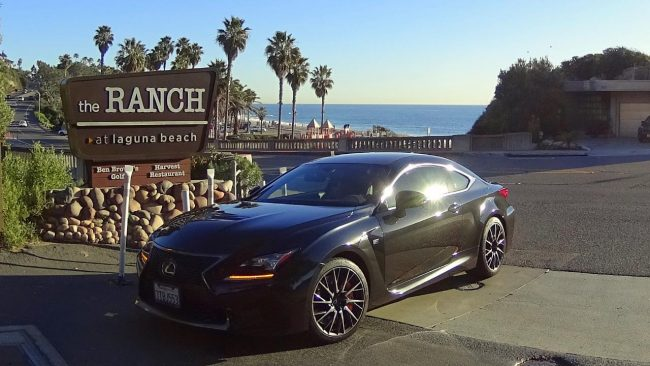 Lexus RC F at the Ranch at Laguna Beach