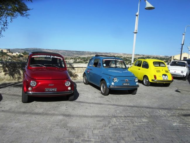 Fiat 500s in Sicily. Photo by Fyllis Hockman