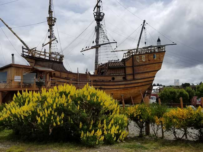 At the outdoor maritime museum, you can climb aboard a full-sized replica of the ship that brought Magellan here in 1543. Photo by Linda Ballou