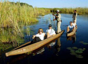 Exploring Botswana's Okavango Delta by African-Style Gondolier