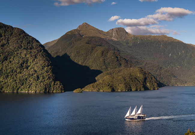 Cruising on Doubtful Sound with Real Journeys. Photo by Real Journeys