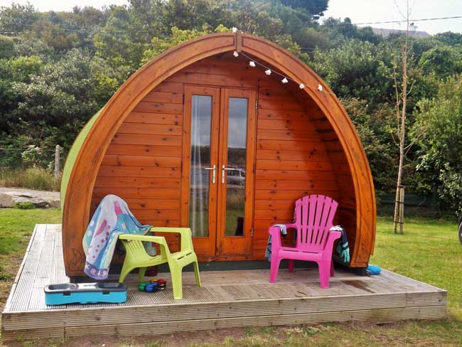 Glamping offers a comfortable place to sleep