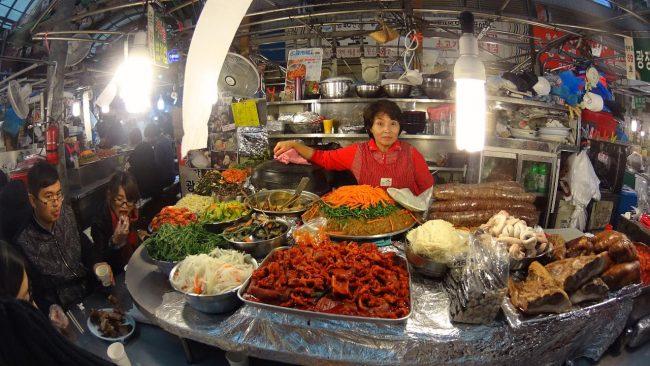 Gwangjang Market vendor