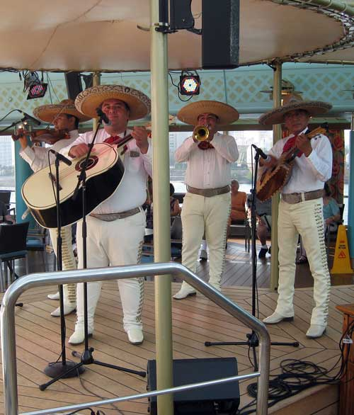 A Mariachi band plays on the deck of the cruise ship. Photo by Pat Woods