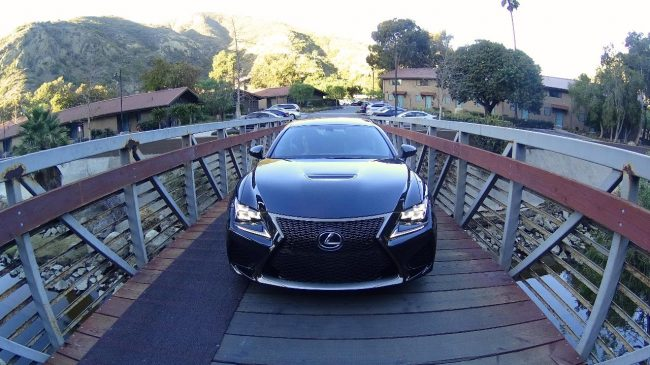 Lexus RC F at the Ranch LB