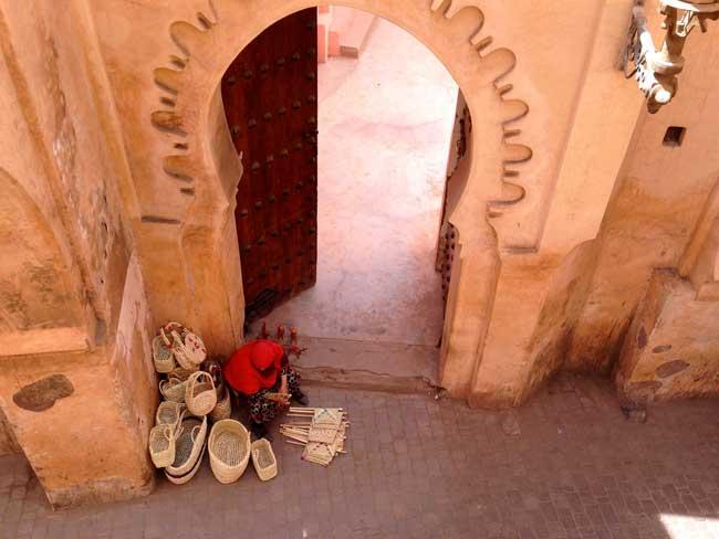 Baskets for sale in Marrakech. Flickr/Andrew Nash