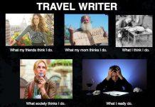 Travel writing humor