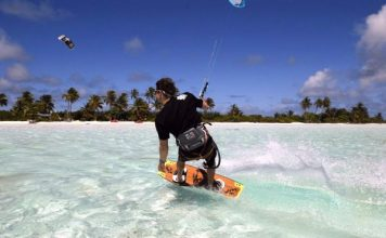 Kitesurfing in the Cocos Keeling Islands