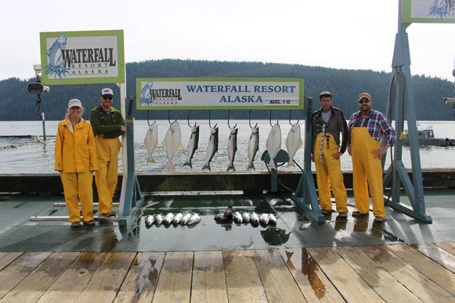 Our fishing group after a successful day. Photo courtesy Janna Graber