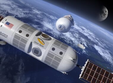 Aurora Station in space. Image courtesy of Orion Span