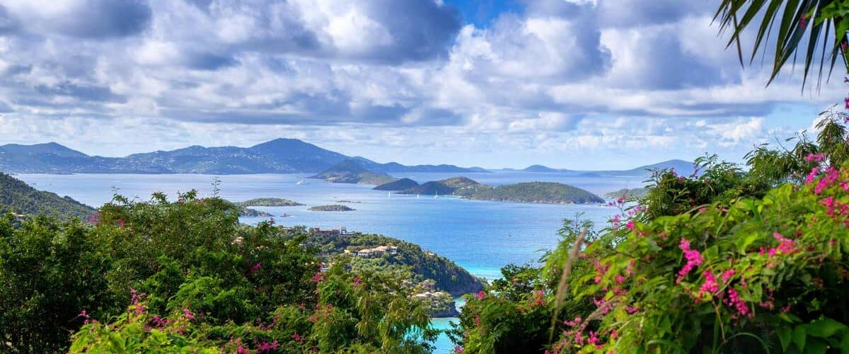 Looking out at Cinnamon Bay in the U.S. Virgin Islands