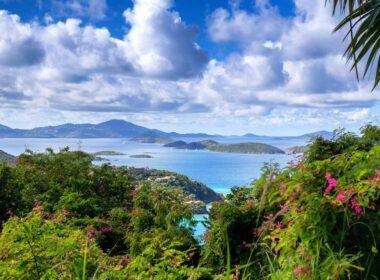 Looking out at Cinnamon Bay in the U.S. Virgin Islands