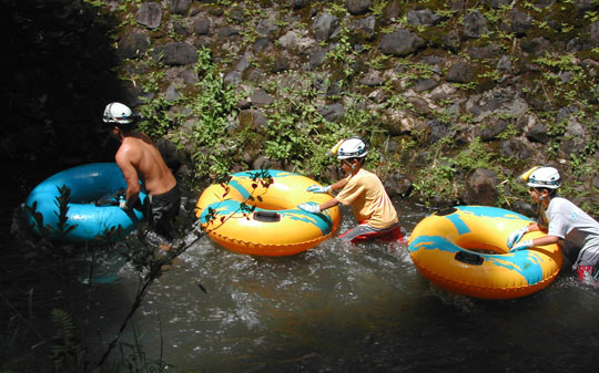 Floating down the irrigation flumes with Kauai Backcountry Adventures. Photo by Janna Graber