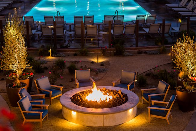 Fire pit gathering spot. Photo courtesy of Miramonte Resort & Spa