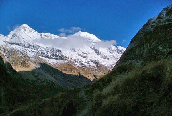 The mountains above Pindari Glacier. Photo by Dan Gowanlock