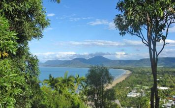 The view from Flagstaff Hill in Port Douglas, Queensland. Photo by Tim Downs