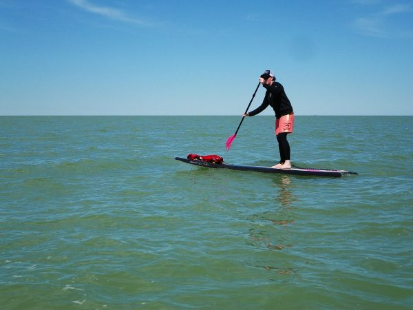 Stand up paddle boarding on Lake Huron. Photo by Scott Arseneault