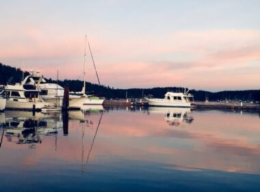 Friday Harbor at dusk. Photo by Claudia Carbone
