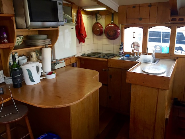 The galley of The Wharfside. Photo by Claudia Carbone