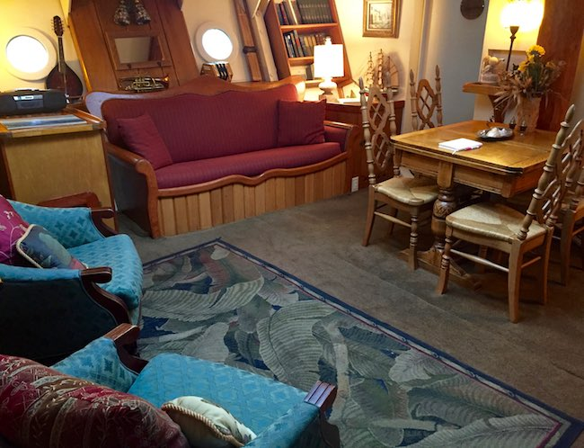 Living Room of Forward Stateroom. Photo by Claudia Carbone