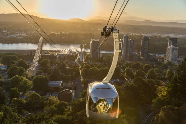Aerial tram in Portland, Oregon. Photo by Jamie Francis / TravelPortland.com