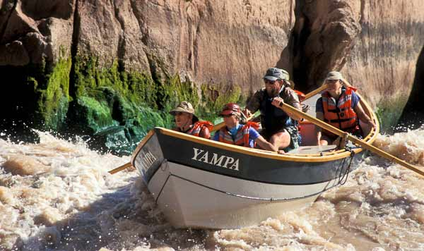 Boating through the Granite Rapid, Grand Canyon, Arizona, By Dan Leeth