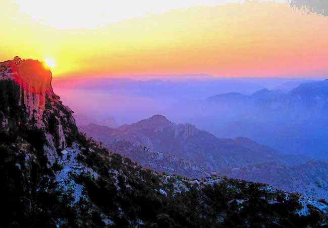 Sunrise over Copper Canyon in Mexico. Photo by Carol L. Bowman