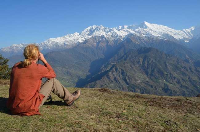 Taking a break on the Pindari Glacier Trek. Flickr/Laura7581