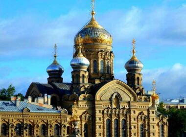 We were mesmerized by the Russian Orthodox Church of Assumption of St. Mary, as the first thing we saw when we docked in center city St, Petersburg. Photo by Carol L. Bowman