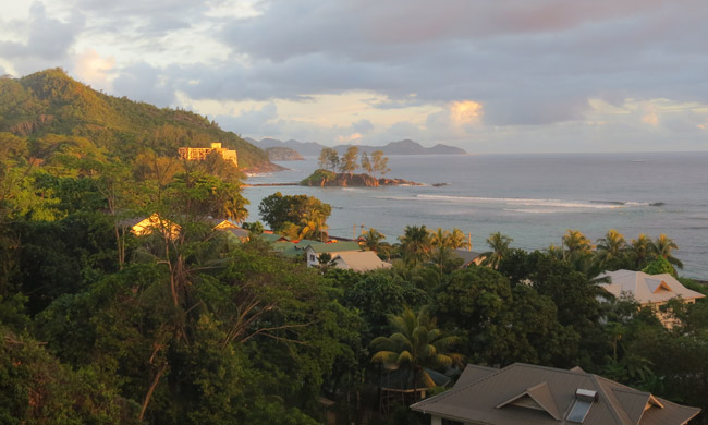 Sunset in Seychelles. Photo by Nicoletta Pavese