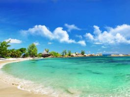 Travel in the Seychelles. The Seychelles is known for its beautiful beaches.